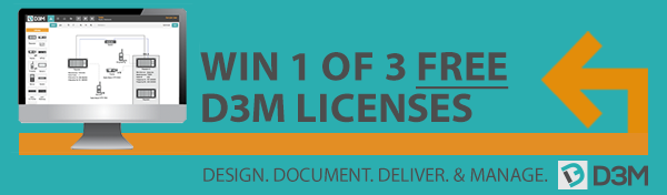 Win 1 of 3 D3M Licenses