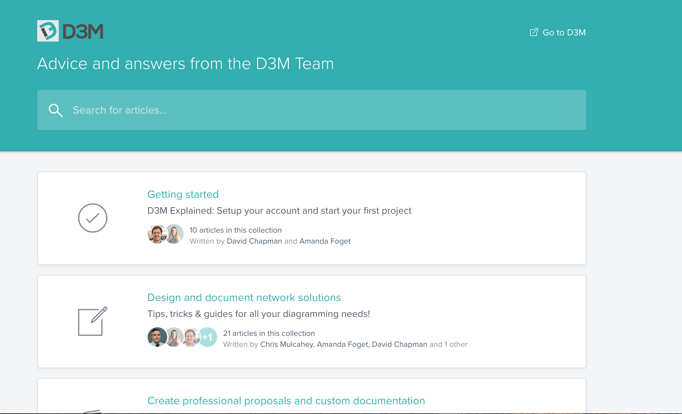 Find Answers to All Your Questions with the D3M Help Center